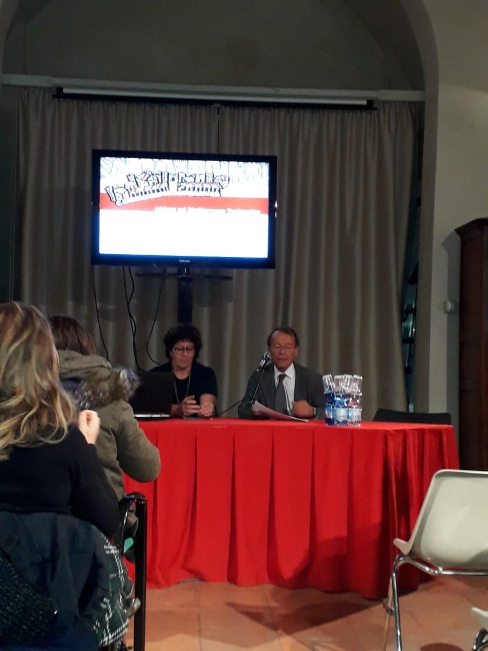 Ravenna (31 ottobre), Professoressa Isabella Baldini (DISCI) e professor Giuseppe Sassatelli (RavennAntica)