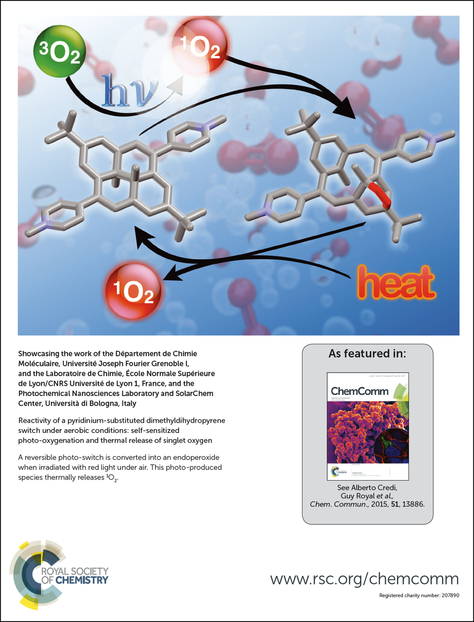 Self-sensitized photo-oxygenation and thermal release of singlet oxygen by a DHP switch