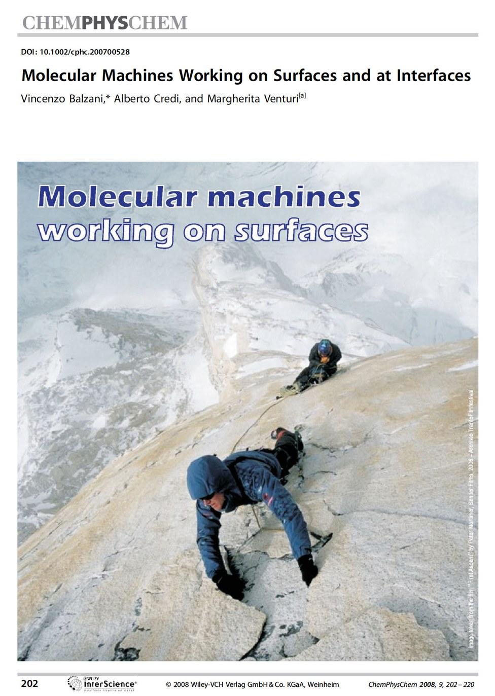 Molecular machines on surfaces