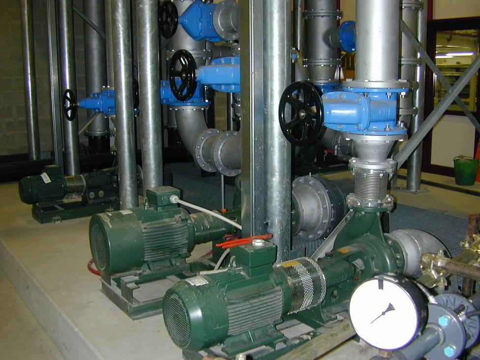Sistema di pompaggio del laboratorio di ingegneria idraulica