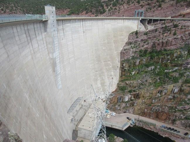Flaming Gorge Dam sul fiume Colorado (USA)